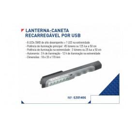 lanterna Caneta Recarregável por USB