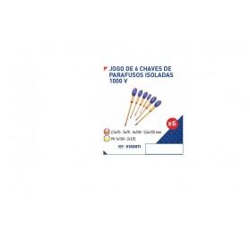 Jogo de 6 chaves de parafusos isoladas 1000 V